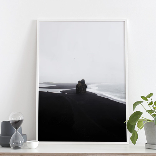 BLACK BEACH (50x70cm)[COCO LAPINE DESIGN]